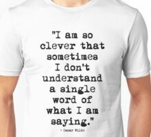 Oscar Wilde Cleverness Unisex T-Shirt