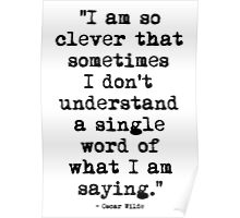 Oscar Wilde Cleverness Poster