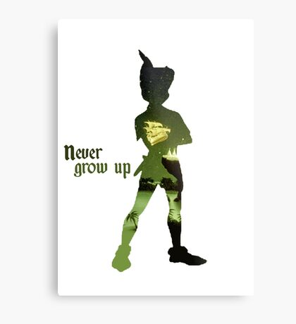 Never Grow Up Metal Print