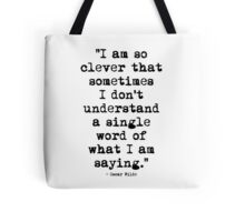 Oscar Wilde Cleverness Tote Bag