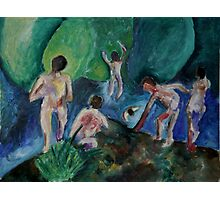 Bathing Boys Photographic Print