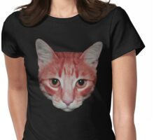 Ginger cat head Womens Fitted T-Shirt
