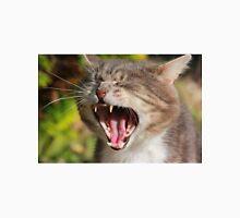 Close-up of tabby cat yawning Unisex T-Shirt