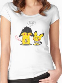 PikaVader Strikes Back! Women's Fitted Scoop T-Shirt