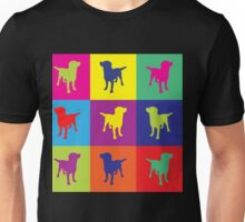 Pop art in the dogs Unisex T-Shirt