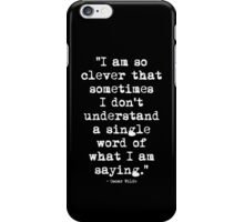 Oscar Wilde Cleverness White iPhone Case/Skin