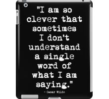 Oscar Wilde Cleverness White iPad Case/Skin