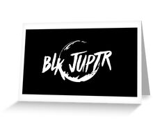 Blkjuptr Planet - White (Small) Greeting Card