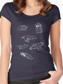 Sci fi Starry Nightsky Women's Fitted Scoop T-Shirt