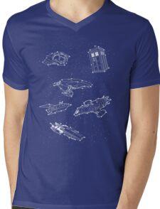 Sci fi Starry Nightsky Mens V-Neck T-Shirt