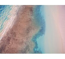 Cable Beach reef sunset areal  Photographic Print