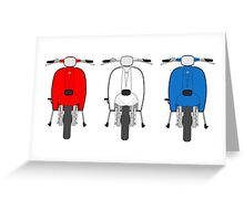 Scooter red white and blue Greeting Card