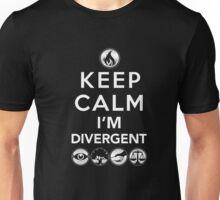 Keep Calm Faction Symbols T-Shirt: Geek Gift for Readers Unisex T-Shirt
