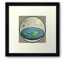 earth is NOT round Framed Print