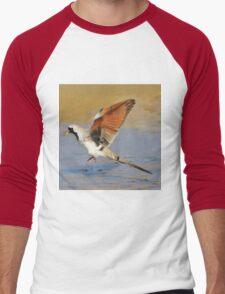 Blur of Flight - Namaqua Dove - African Wildlife Men's Baseball ¾ T-Shirt