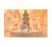 Belle reading Art Print