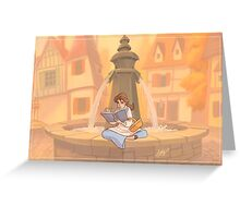Belle reading Greeting Card