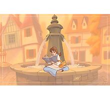 Belle reading Photographic Print