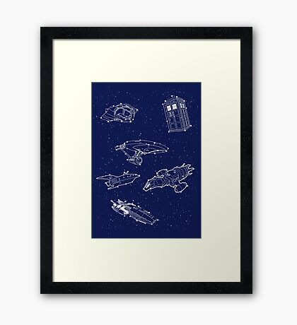 Sci fi Starry Nightsky Framed Print