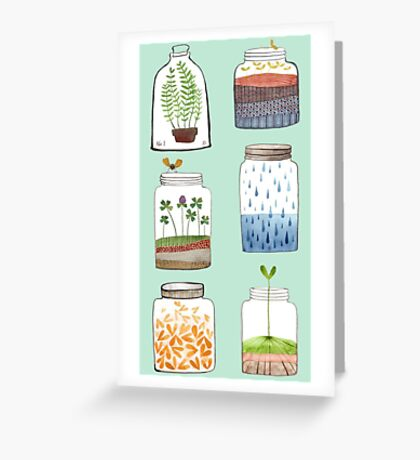 Nature In a Bottle Stickers Greeting Card