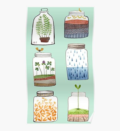 Nature In a Bottle Stickers Poster