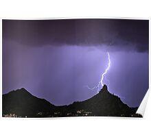 Pinnacle Peak Lightning Bolt Poster