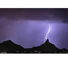 Pinnacle Peak Lightning Bolt Photographic Print