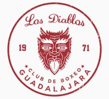 Los Diablos Club de Boxeo - distressed design Kids Clothes