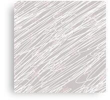 Swirling snow storm blizzard with pink snowflakes on light grey Canvas Print