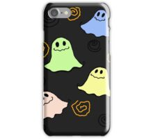 Cute Ghost (Black) - Halloween Time iPhone Case/Skin