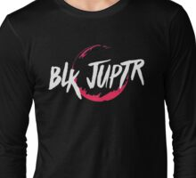 Blkjuptr Planet - Red (Large) Long Sleeve T-Shirt