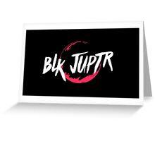 Blkjuptr Planet - Red (Large) Greeting Card
