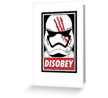 Disobey SW! Greeting Card
