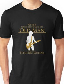 Old Man With An Electric Guitar T-Shirt Unisex T-Shirt