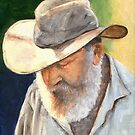 Old Man in Cowboy Hat by Michael Beckett