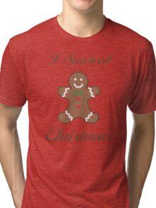 Cute Christmas Gingerbread Man Tri-blend T-Shirt