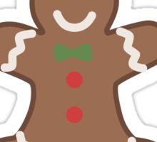 Cute Christmas Gingerbread Man Sticker