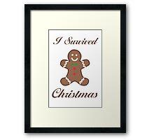 Cute Christmas Gingerbread Man Framed Print