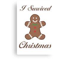 Cute Christmas Gingerbread Man Canvas Print