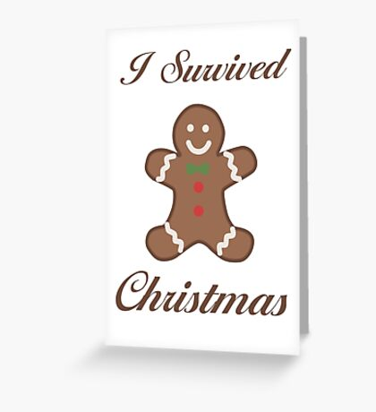Cute Christmas Gingerbread Man Greeting Card