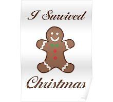 Cute Christmas Gingerbread Man Poster