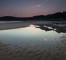 Langland bay low tide by leightoncollins