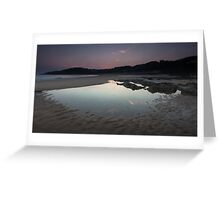 Langland bay low tide Greeting Card