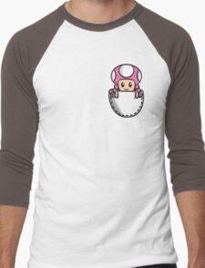 Pocket Toadette Men's Baseball ¾ T-Shirt