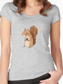 Sarah the Squirrel Women's Fitted Scoop T-Shirt