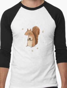 Sarah the Squirrel Men's Baseball ¾ T-Shirt