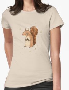 Sarah the Squirrel Womens Fitted T-Shirt