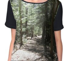 Forest Trail Chiffon Top