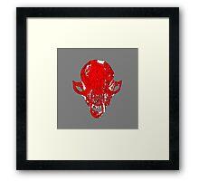 Fox Skull Framed Print