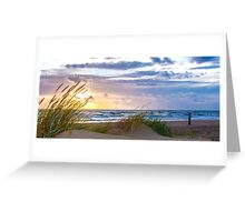 Sunset at the Dutch coast Greeting Card
